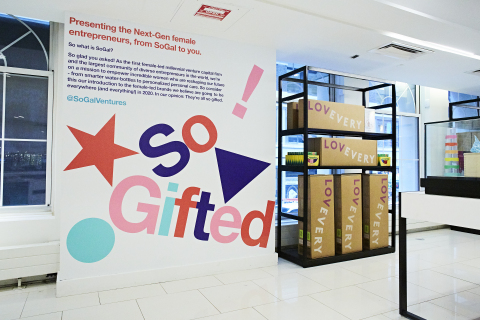 Macy's launches SoGifted, a female entrepreneur-focused destination for gifts in partnership with SoGal Ventures and powered by b8ta, at seven stores nationwide (Photo: Business Wire)