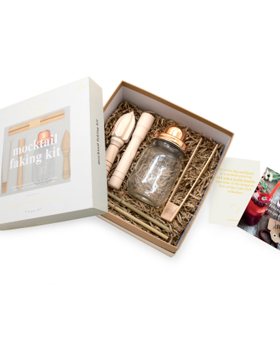 """STORY at Macy's launches """"Feel Good STORY,"""" the latest theme of the narrative-driven retail concept inside 36 Macy's stores nationwide. Luckies of London, Mocktail Faking Kit, $45 (Photo: Business Wire)"""