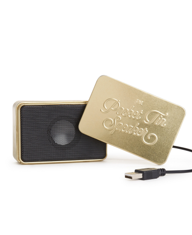 Macy's has you covered with unique and thoughtful last-minute gifts in every price range this holiday season; Luckies Of London Pocket Tin Speakers 2.0, $34.00 (Photo: Business Wire)