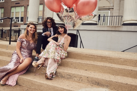 Make this prom unforgettable with Macy's incredible selection of fashion-forward gowns, accessories and beauty. B Darlin sequin gown and Sequin Hearts embroidered gown, $109-$139 (Photo: Business Wire)