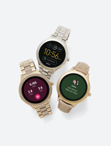 Surprise mom with a gift from the Tech Shop to make her everyday life a little bit easier. Fossil Q Women's Venture Gen 3 Touchscreen Smart Watches, $255-$275, available in select Macy's locations and on macys.com. (Photo: Business Wire)