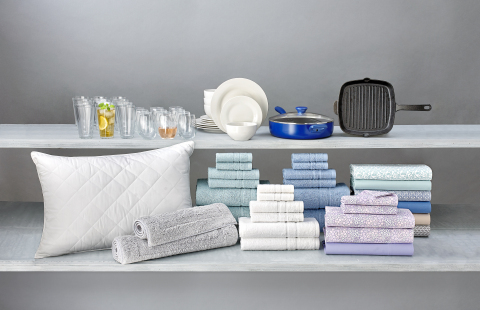 Stay cool and organized this school year with a little help from Macy's, with comfy and cool lifestyle essentials. Whim by Martha Stewart pillows help with big dreams while Charter Club towels add a pop of color and personalization to any room. (Photo: Business Wire)