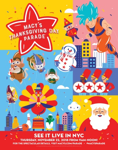 The world-renowned Macy's Thanksgiving Day Parade® officially kicks off the season with the 92nd edition of the holiday tradition on Thursday, Nov. 22 at 9 a.m. ET. (Graphic: Business Wire)