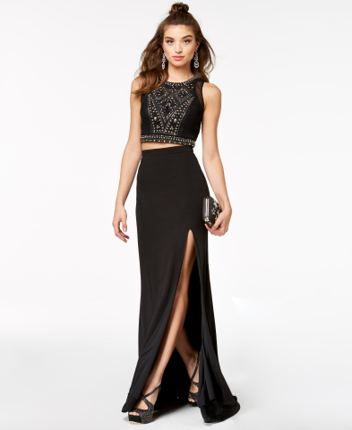 Macy's makes every girl's prom dream a reality with the chicest styles and latest trends. City Studios two-piece beaded dress, $109 (Photo: Business Wire)