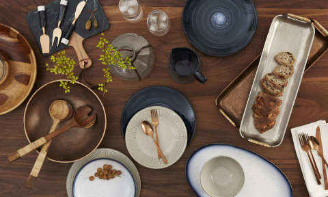 Entertaining at home just got elevated with metallic, wood and marble serveware from Lucky Brand and Thirstystone, now available in stores and online at macys.com. (Photo: Business Wire)