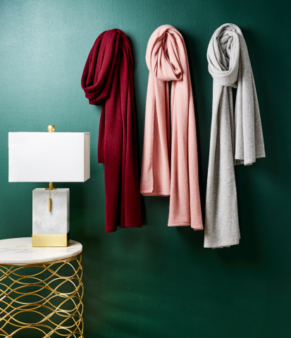 Macy's takes the stress out of last-minute shopping with great gifts and convenient services to make sure shoppers get all their holiday gifts in time for Christmas; Charter Club Cashmere Scarves, $169, available on macys.com (Photo: Business Wire)