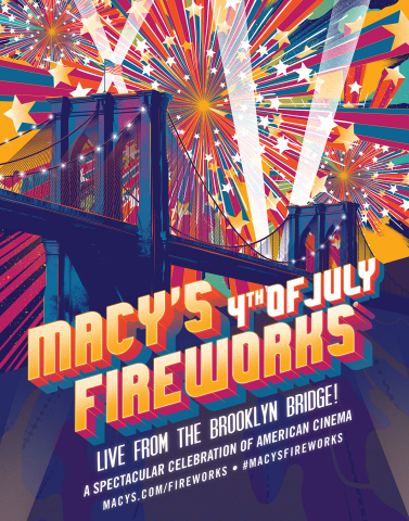 Lights, Camera, Fireworks! The 43rd Annual Macy's 4th of July Fireworks, the nation's largest Independence Day celebration, ignites the New York City skyline live from the Brooklyn Bridge, Thursday, July 4th. (Photo: Business Wire)