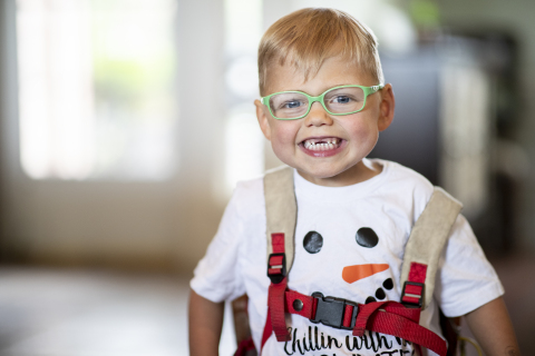 "Make-A-Wish kid Brantley, 4-years-old, wishes ""to go to Colorado and build a snowman"" (Photo: Business Wire)"