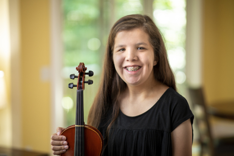 "Make-A-Wish kid Priscilla, 18-years-old, wishes ""to go to Italy where the violin was made"" (Photo: Business Wire)"