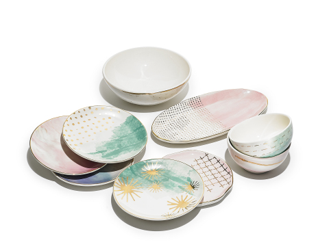 Delight mom with gorgeous dinnerware to take her entertaining to the next level. Jay Imports Spring Soiree Dinnerware, $17-$67, available in select Macy's locations and on macys.com. (Photo: Business Wire)