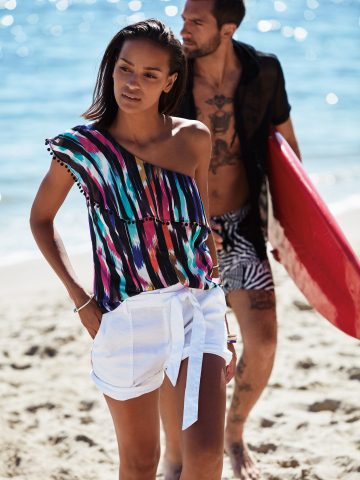 Channel the breezy yet adventurous gypset feel of the season with the Trina Turk x I.N.C. and Mr. Turk x I.N.C. collections created for Macy's. $29.50-$129.50, available in select Macy's stores and on macys.com. (Photo: Business Wire)