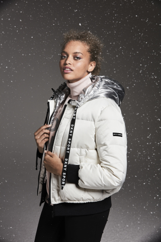 Cold weather essentials make the perfect gift from Macy's this holiday season; DKNY bold logo puffer jacket, $169 (Photo: Business Wire)