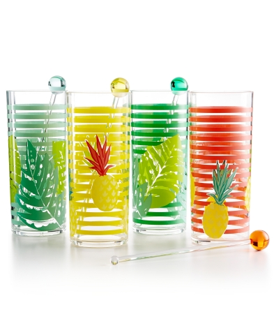 Make your parties the talk of summer with fun and trendy serve ware. Martha Stewart Fiesta Collection 4-piece Tom Collins Glass Set, created for Macy's, $37, available in select Macy's stores and on macys.com. (Photo: Business Wire)