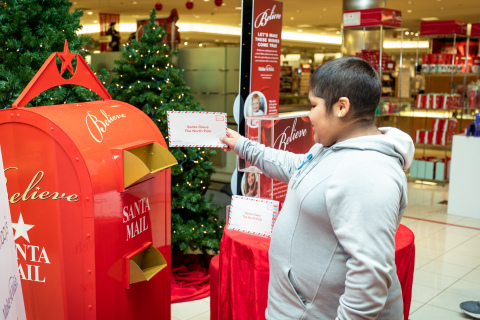As part of Macy's Believe campaign, Macy's and Make-A-Wish® celebrate Wish Wednesday each week by granting the wishes of kids battling critical illnesses. Macy's SouthPark and Make-A-Wish® celebrated a Wish Wednesday by granting Glenda's wish to have a room makeover! (Photo: Business Wire)