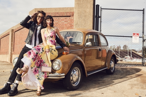 Make this prom unforgettable with Macy's incredible selection of fashion-forward gowns, accessories and beauty. Teeze Me floral gown, $129 (Photo: Business Wire)