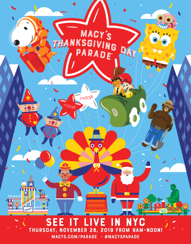 The 93rd Annual Macy's Thanksgiving Day Parade® kicks-off the holiday season on Thursday, November 28 at 9 a.m. ET. (Graphic: Business Wire)