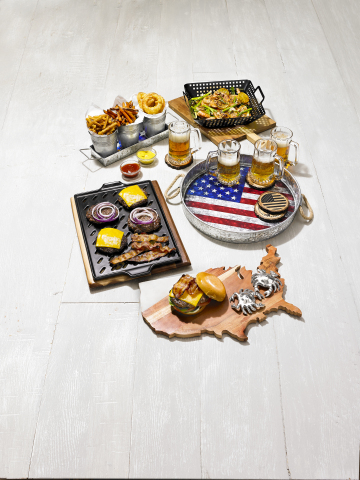 Make sure Dad is the king of barbeque with top-of-the line grilling tools, and let him enjoy cold beverages in style with sophisticated glassware sets, all available at Macy's. (Photo: Business Wire)