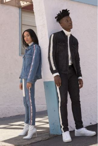 Inspired by the trends of the '90s, the fall Levi's Limited Collection juxtaposes throwback pieces with modern trends. Available for both men and women in stores and online at macys.com. (Photo: Business Wire)