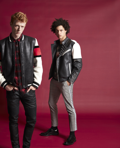 Menswear gets a modern update with leather bomber jackets, casual suiting and subtle plaid patterns. Find all these pieces and more in stores and online at macys.com. (Photo: Business Wire)