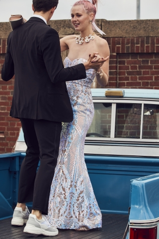 Make this prom unforgettable with Macy's incredible selection of fashion-forward gowns, accessories and beauty. Say Yes to the Prom sequin gown, $189 (Photo: Business Wire)