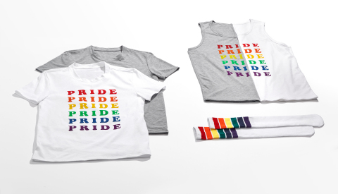 Macy's celebrates WorldPride and Stonewall 50 with its 10th annual national Pride + Joy campaign featuring special Pride-themed products and a partnership with The Trevor Project. INC Pride apparel benefitting The Trevor Project (Photo: Business Wire)