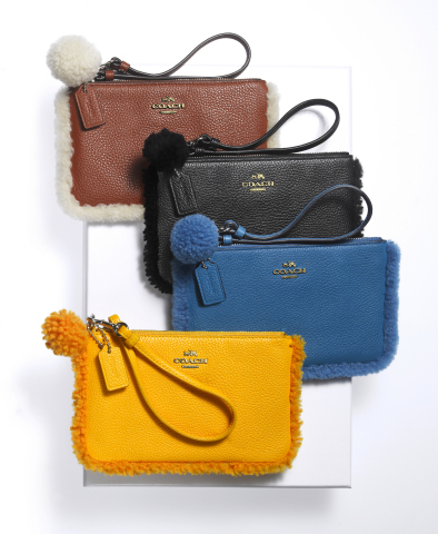 Shop Macy's stores and macys.com for last-minute gifts that are sure to please; Coach Shearling Wristlets (Photo: Business Wire)