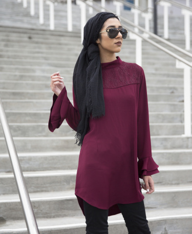 Verona Collection will be available on macys.com starting Feb. 15. Emilia Lace Top, $54.95. (Photo: Business Wire)