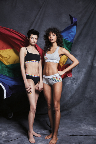 Macy's celebrates WorldPride and Stonewall 50 with its 10th annual national Pride + Joy campaign featuring special Pride-themed products and a partnership with The Trevor Project. DKNY and Calvin Klein Pride Intimate apparel (Photo: Business Wire)