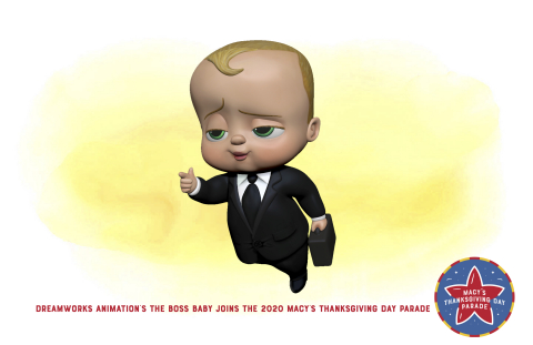 DreamWorks Animation's The Boss Baby joins the 2020 Macy's Thanksgiving Day Parade (Photo: Business Wire)