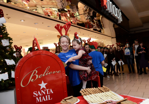 Macy's celebrates the launch of its 11th annual Believe campaign benefitting Make-A-Wish®. (Photo: Business Wire)