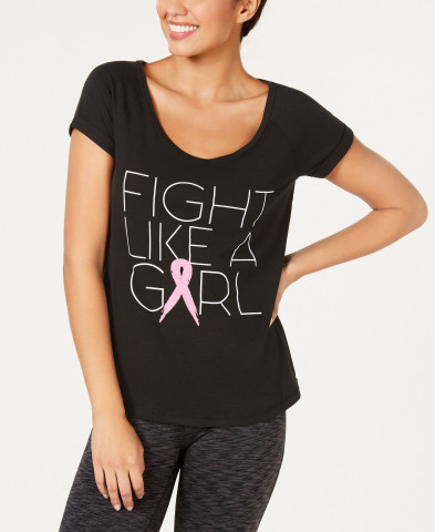 Shop The Pink Shop in-store and online at Macy's this October to support breast cancer Thrivers. Ideology Fight Like A Girl T-shirt, $29.50 (Photo: Business Wire)